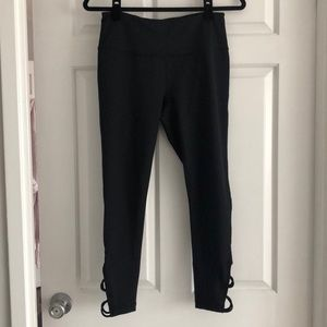Zella black crops with ankle cut outs